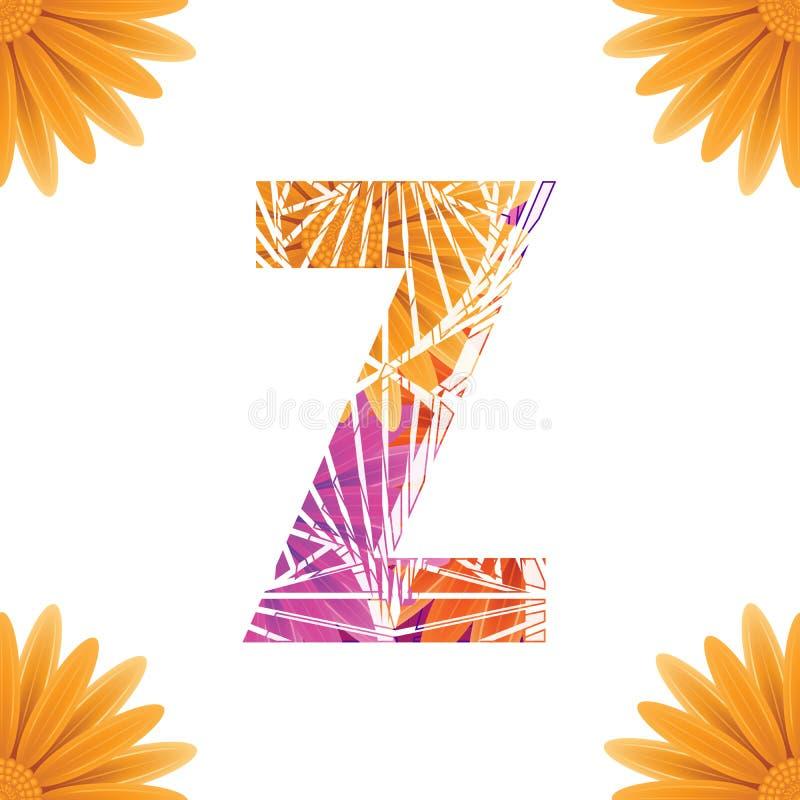 Calibre floral de conception de la lettre Z Mother' ; type concept de logo de fleur de s DAS de construction de logo abstrait illustration libre de droits
