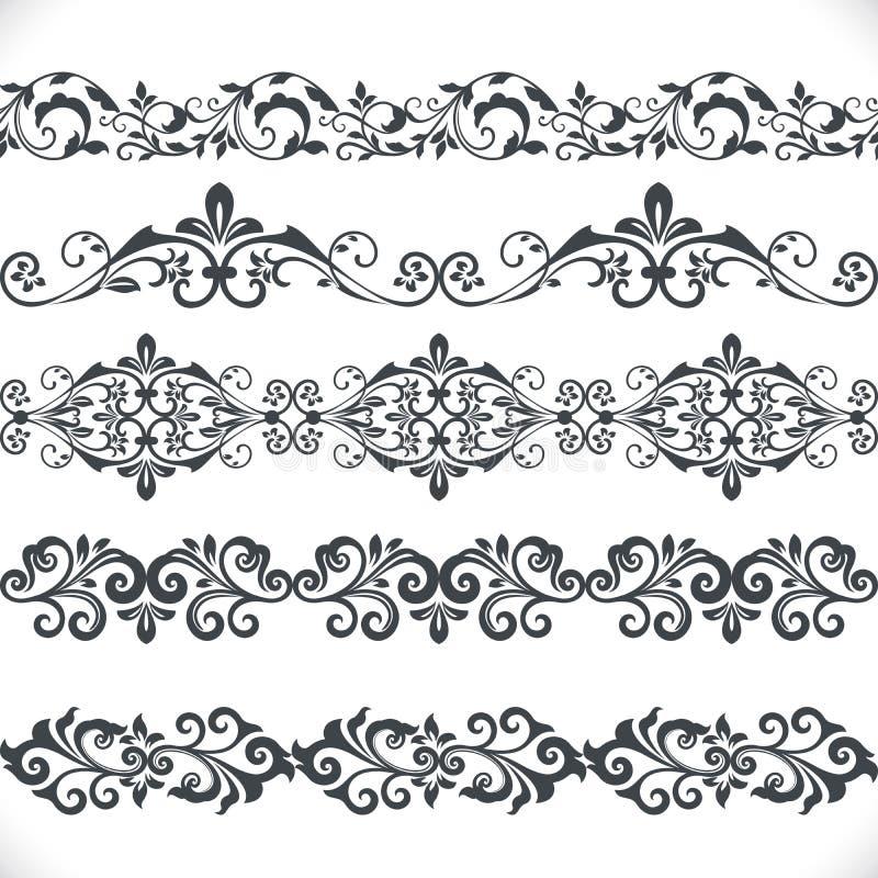 Calibre floral sans couture de frontière illustration stock