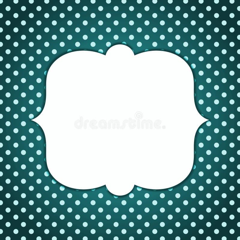 Calibre foncé grunge de cadre de point de polka illustration stock