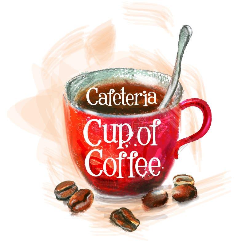 Calibre frais de conception de logo de vecteur de café chaud illustration libre de droits