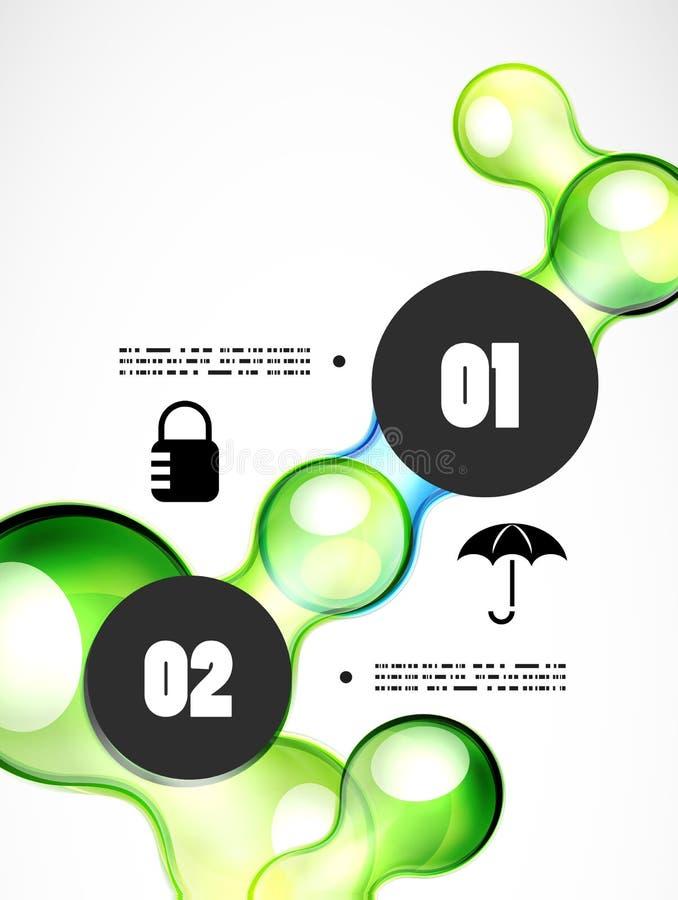 Calibre futuriste abstrait d'infographics illustration libre de droits