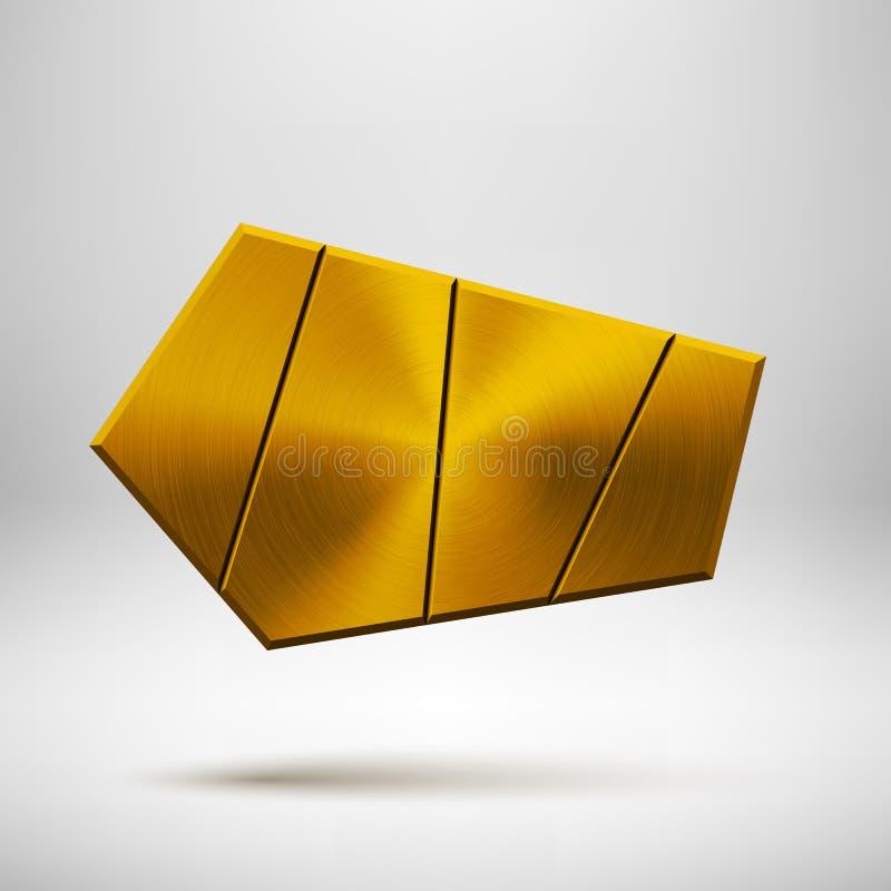 Calibre géométrique abstrait de bouton d'or illustration stock