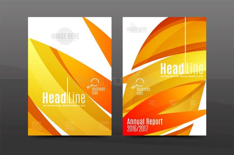 Calibre géométrique d'impression des affaires A4 de fond abstrait de vagues de couleur illustration stock