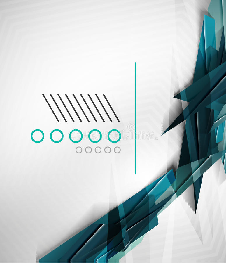 Calibre géométrique réaliste coloré de conception de forme illustration stock