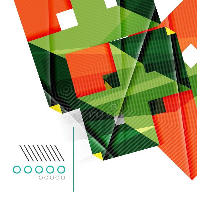 Calibre géométrique réaliste coloré de conception de forme illustration de vecteur