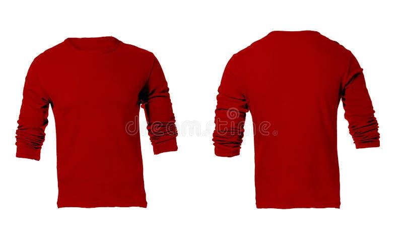 Calibre gainé rouge vide de la chemise des hommes long image stock