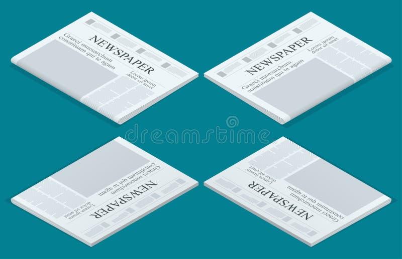 Calibre graphique de journal de conception, accentuant des chiffres et la moquerie de vecteur de témoignages d'un quotidien vide illustration libre de droits
