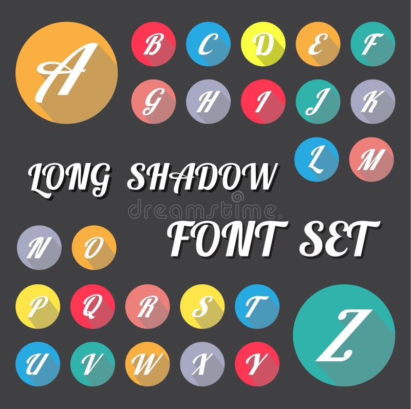 Calibre/graphique ou Web propre de chronologie de nombre de longue conception d'ombre illustration stock