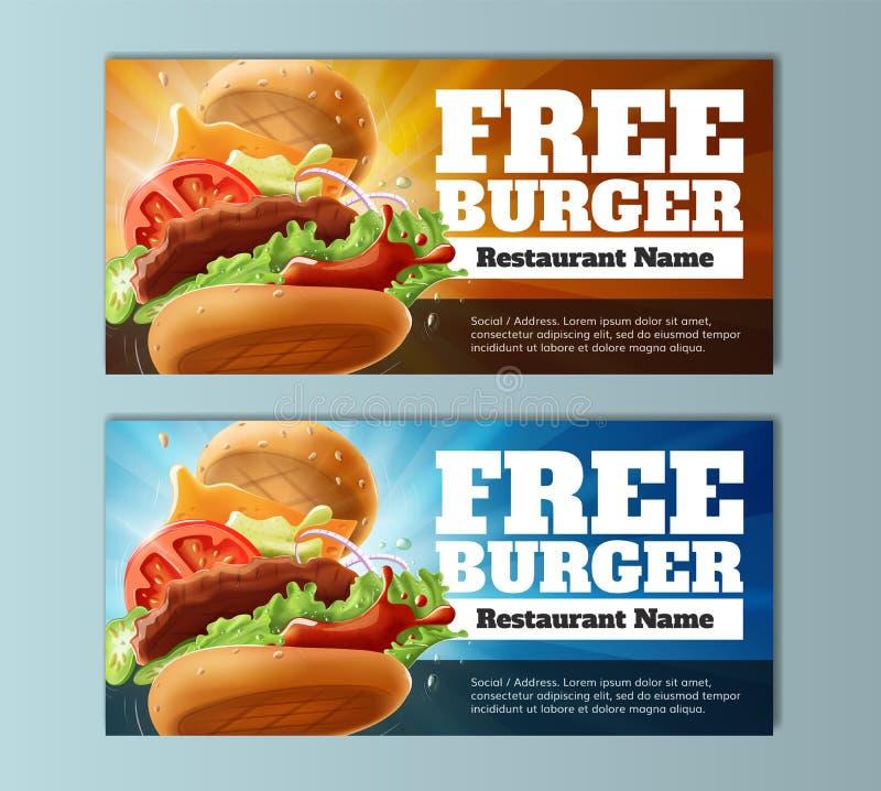Calibre gratuit de bon d'hamburger photographie stock libre de droits