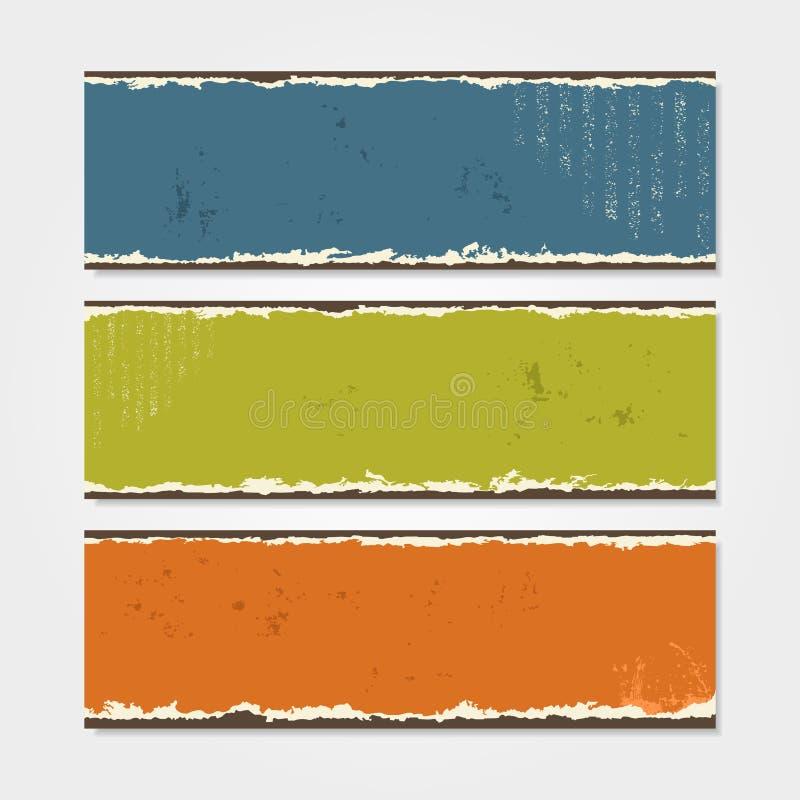 Calibre grunge de bannière Illustration de vecteur illustration stock