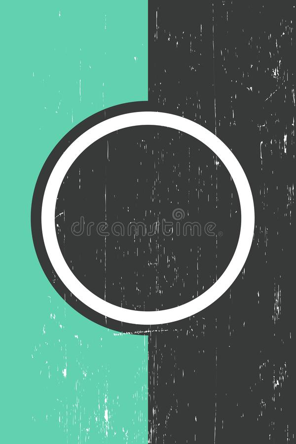 Calibre grunge Front Page Vector Illustration illustration libre de droits