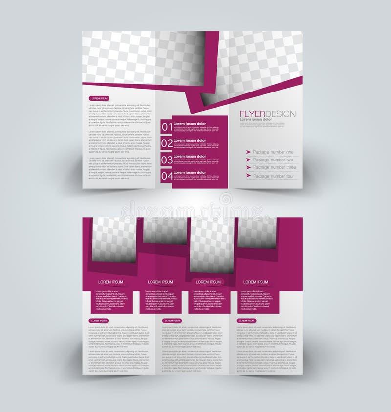 Calibre haut de conception de moquerie de brochure pour des affaires, éducation, publicité illustration de vecteur