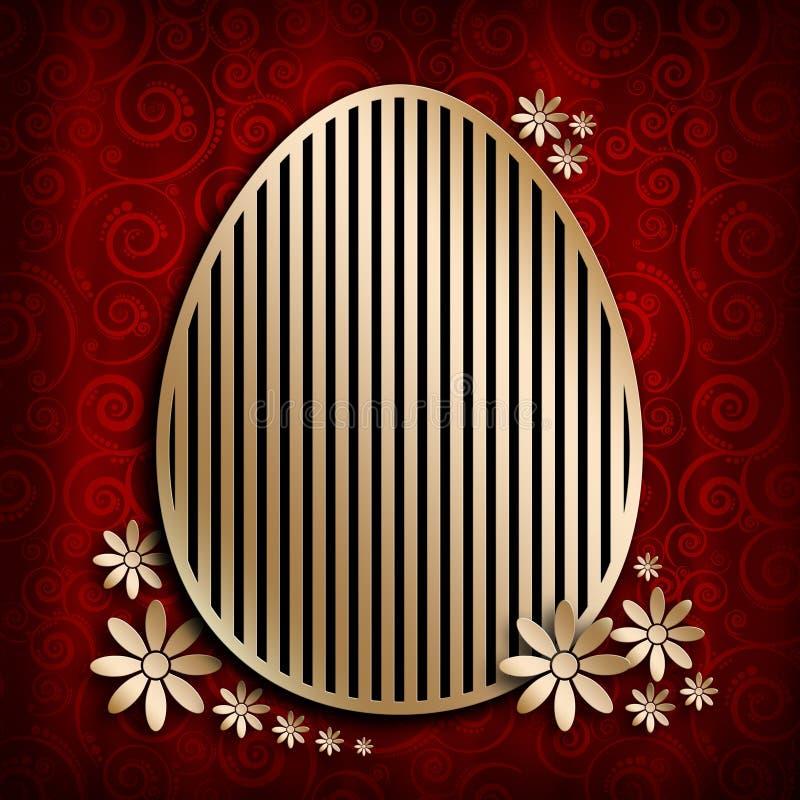 Calibre heureux de carte de Pâques illustration stock