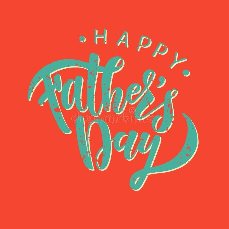 Calibre heureux de carte de voeux de jour de pères illustration de vecteur