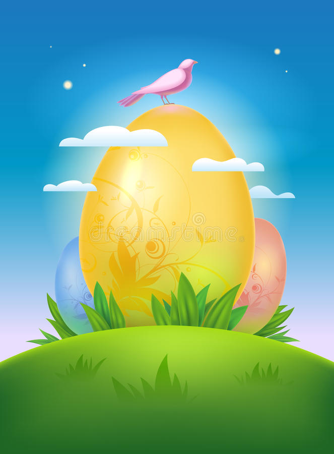 Conception heureuse de Pâques. illustration libre de droits