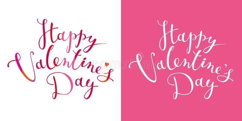 Calibre heureux de conception de lettrage de vecteur de jour du ` s de Valentine illustration de vecteur