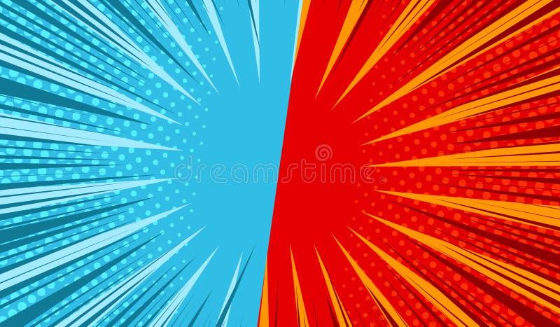 Calibre horizontal de duel comique illustration libre de droits