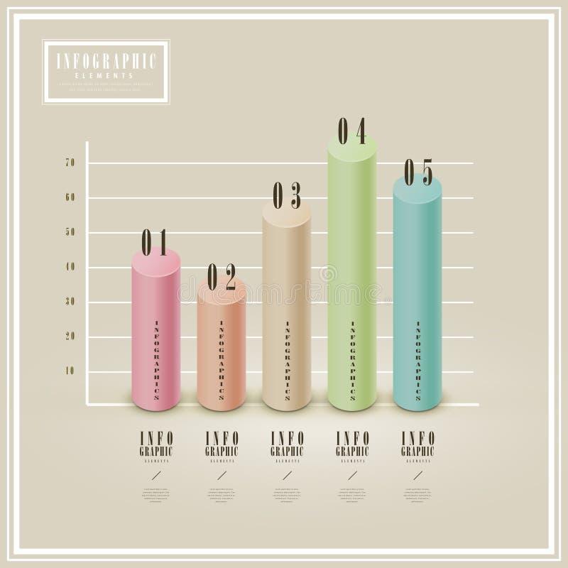 Calibre infographic élégant illustration stock