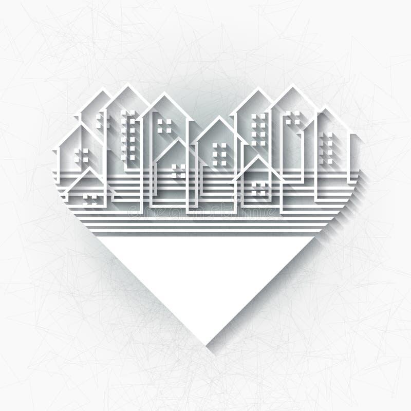 Calibre infographic blanc avec la ville abstraite illustration stock