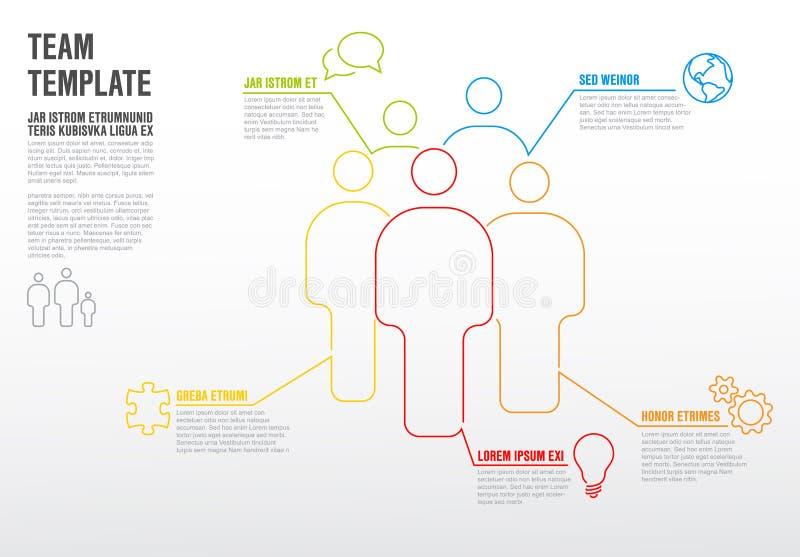 Calibre infographic d'équipe de maigre illustration de vecteur