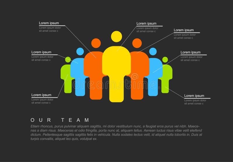 Calibre infographic d'équipe de personnes illustration libre de droits
