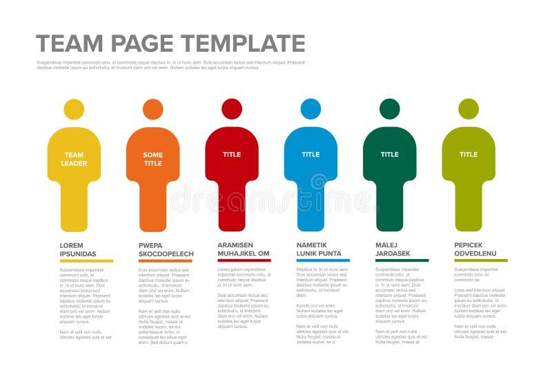 Calibre infographic d'équipe de personnes illustration stock