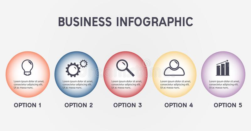 Calibre infographic d'affaires illustration de vecteur