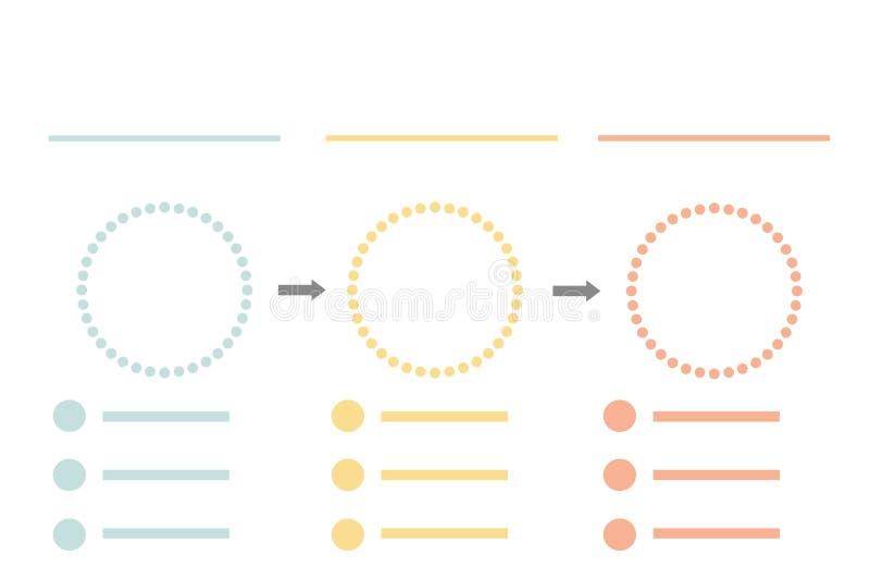 Calibre infographic d'affaires de pr?sentation avec 3 options Illustration de vecteur illustration libre de droits