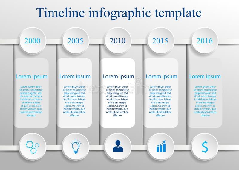 Calibre infographic de chronologie illustration libre de droits