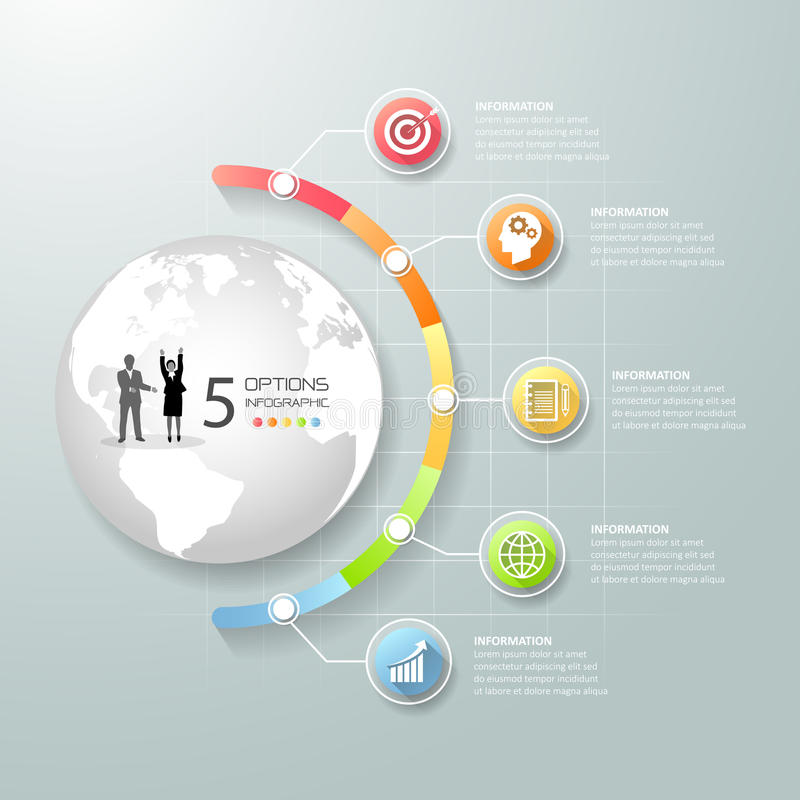 Calibre infographic de concept d'affaires illustration de vecteur