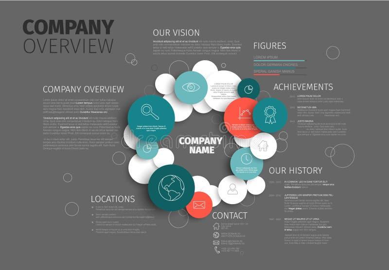 Calibre infographic de conception d'aperçu de Vector Company illustration stock