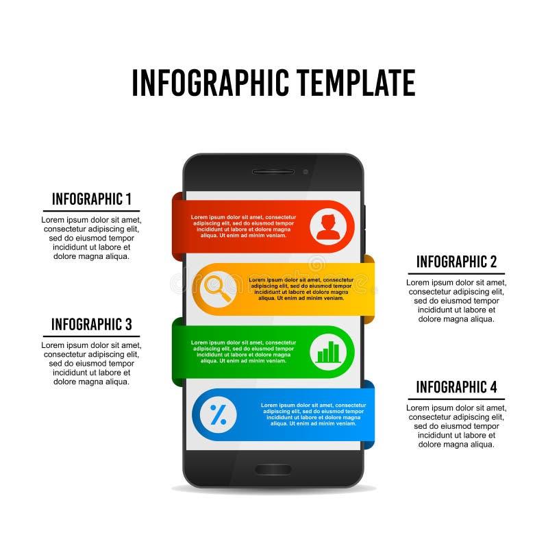 Calibre infographic de conception de Smartphone illustration stock