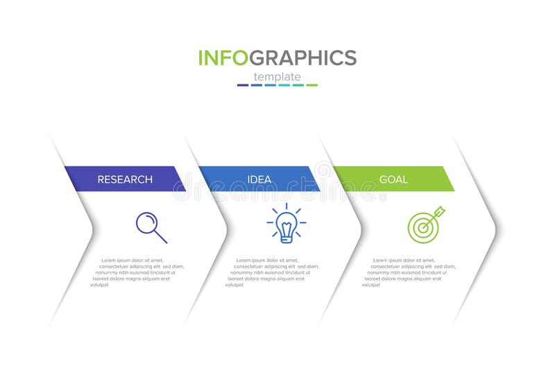 Calibre infographic de label de vecteur avec des ic?nes 3 options ou ?tapes Infographics pour le concept d'affaires peut ?tre emp illustration libre de droits