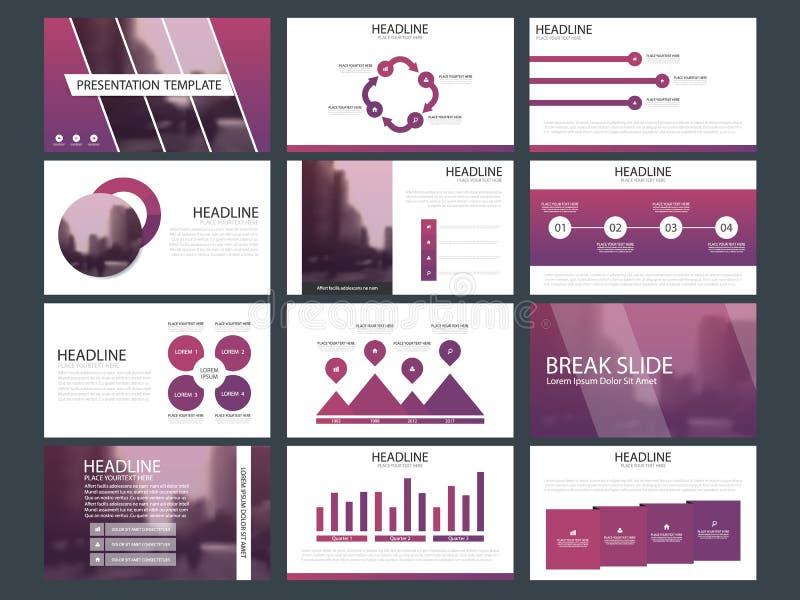 Calibre infographic de présentation d'éléments de paquet bleu rapport annuel d'affaires, brochure, tract, insecte de publicité, d illustration stock