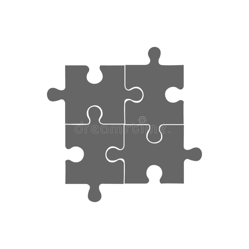 Calibre infographic de puzzle de résumé avec des statistiques commerciales explicatives de gisement des textes illustration de vecteur