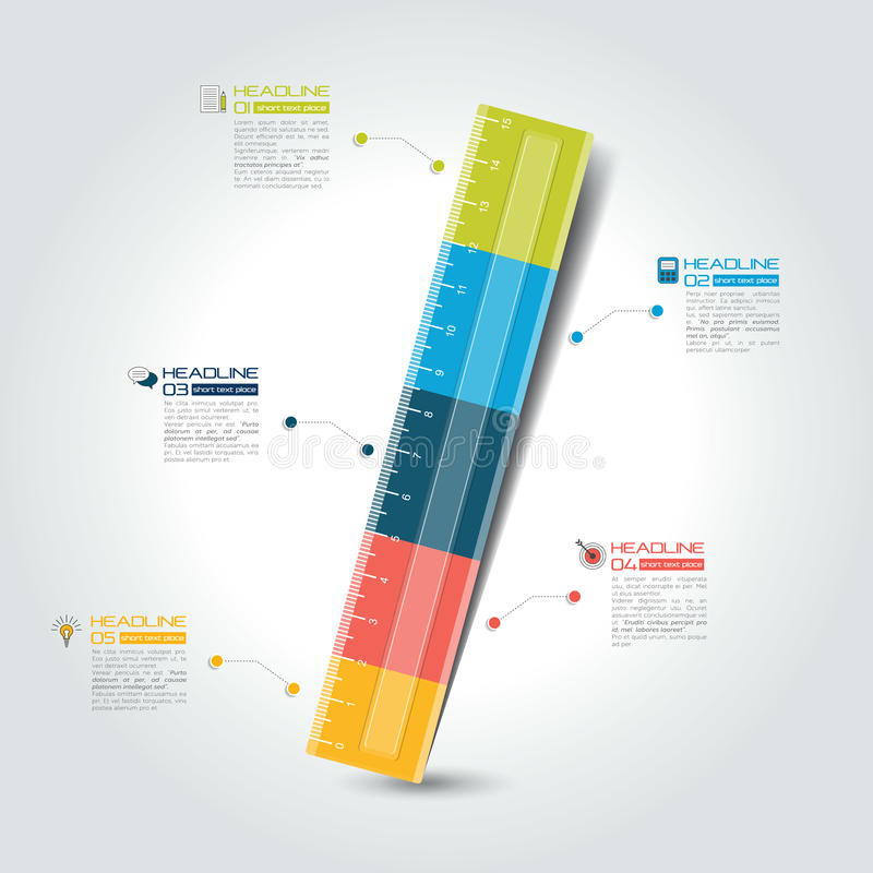 Calibre infographic de règle, diagramme, diagramme Vecteur illustration stock
