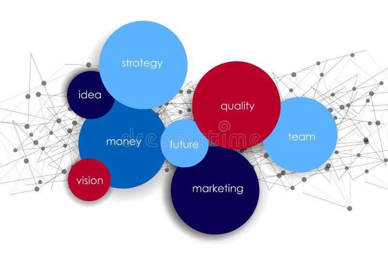 Calibre infographic de réseau de cercles abstraits de vecteur illustration stock