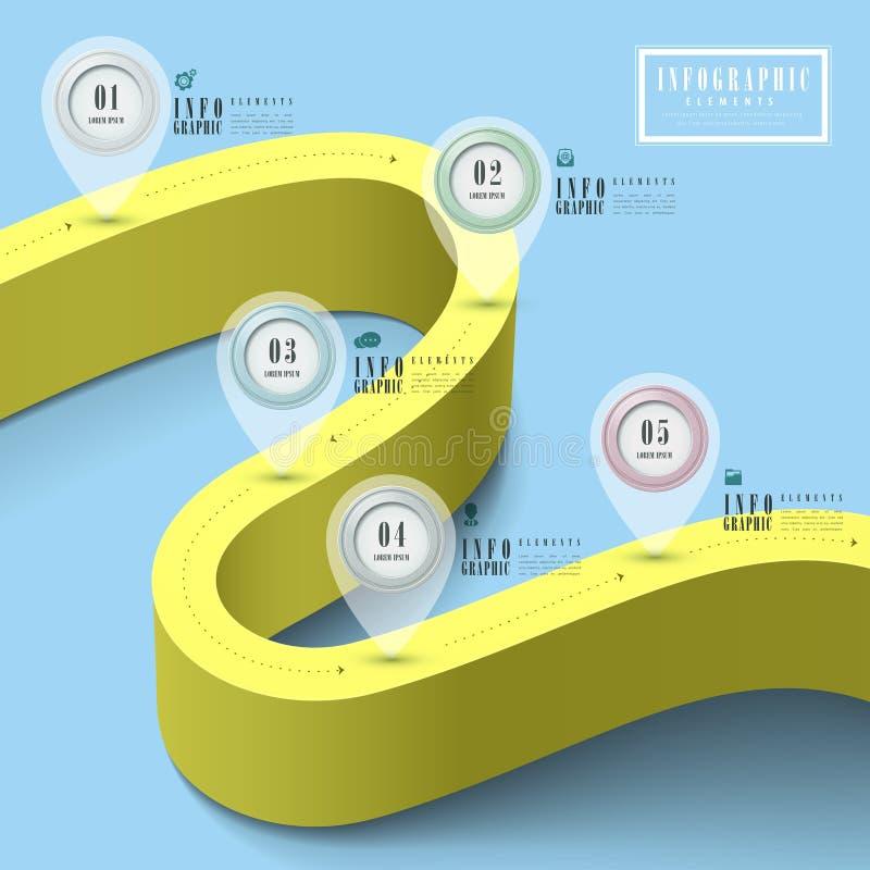 Calibre infographic de simplicité illustration libre de droits