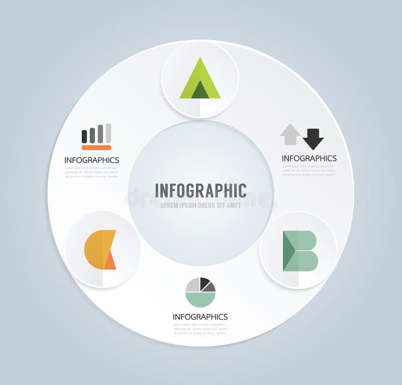 Calibre infographic de style minimal de conception moderne avec l'alphabet illustration libre de droits