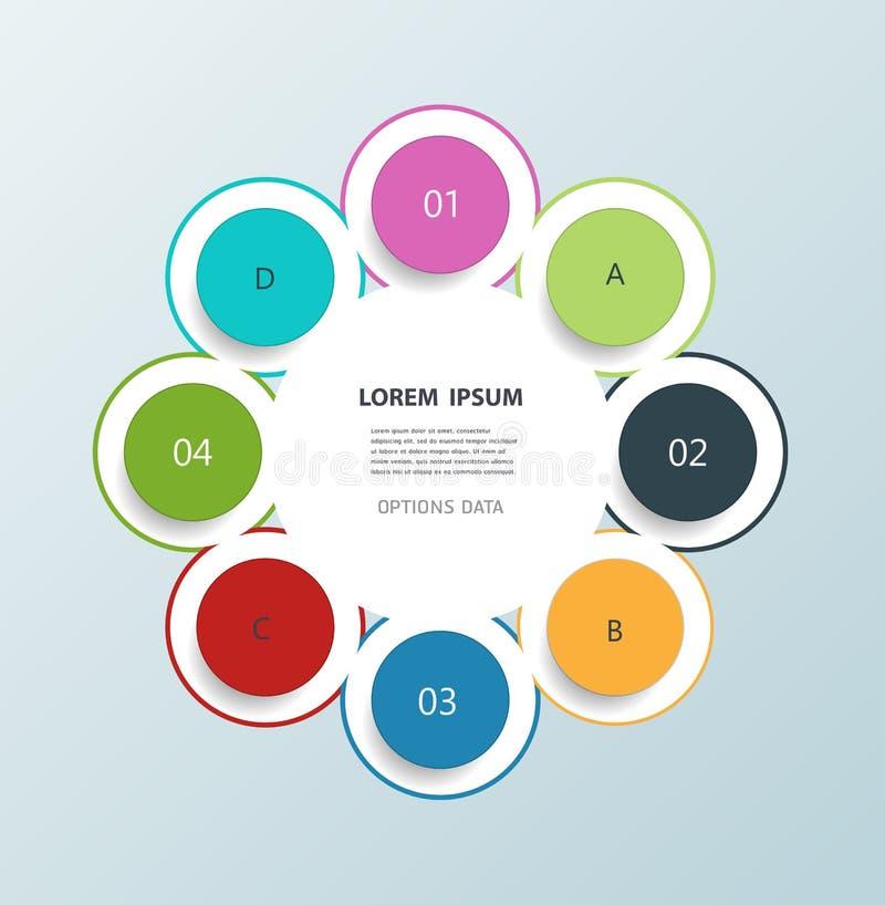 Calibre infographic minimal de conception de cercles illustration libre de droits