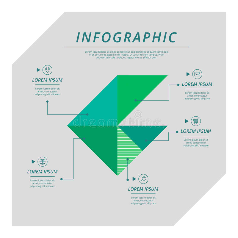 Calibre infographic moderne illustration libre de droits
