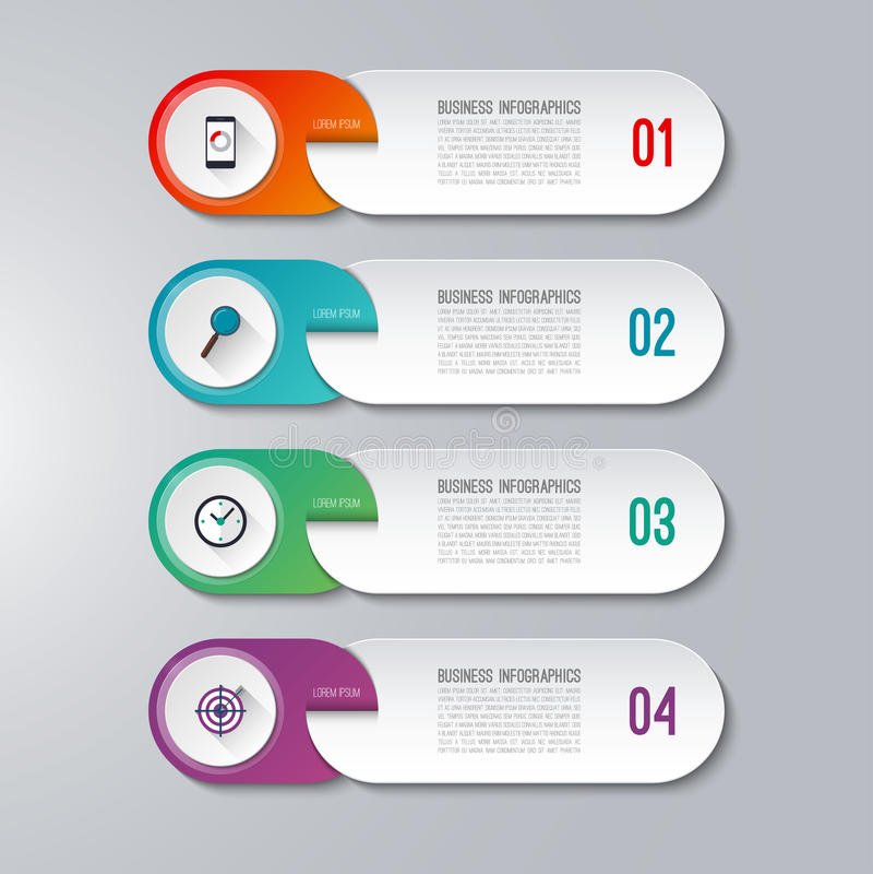 Calibre infographic moderne avec 4 options illustration stock