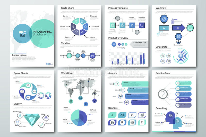 Calibre infographic moderne de brochure illustration stock