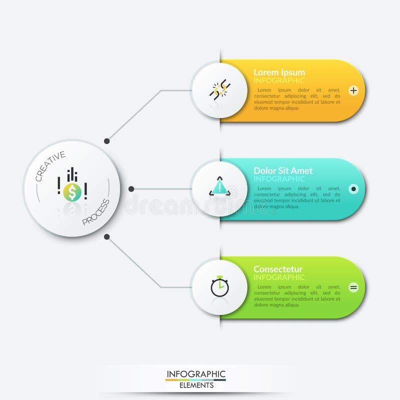 Calibre infographic moderne de conception illustration stock