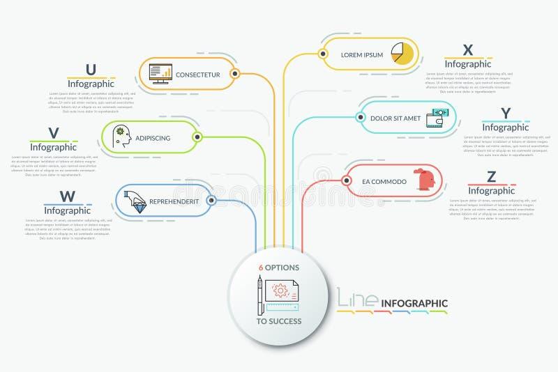Calibre infographic moderne de conception illustration de vecteur
