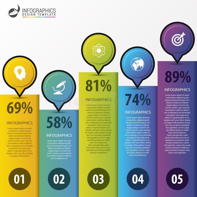 Calibre infographic moderne de conception Concept d'affaires Vecteur illustration libre de droits