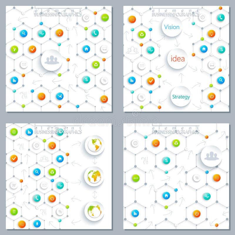 Calibre infographic moderne de conception peut être employé illustration libre de droits