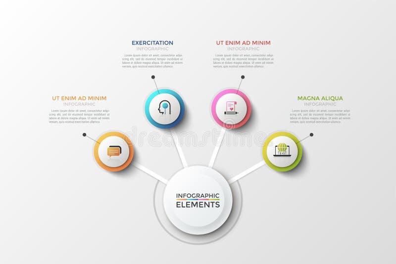 Calibre infographic moderne de vecteur illustration stock