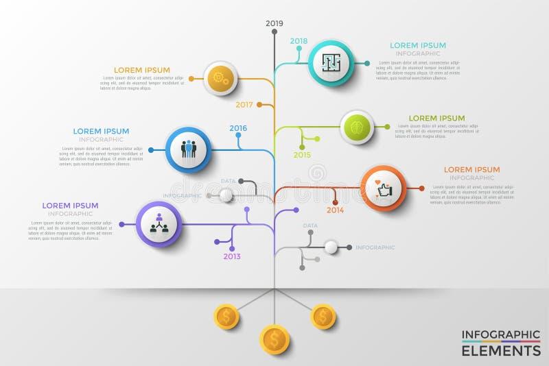 Calibre infographic moderne de vecteur illustration libre de droits