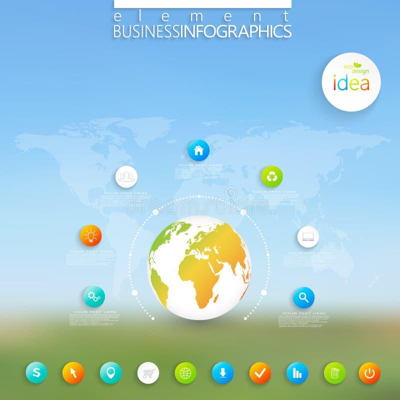 Calibre infographic moderne peut être employé pour illustration libre de droits